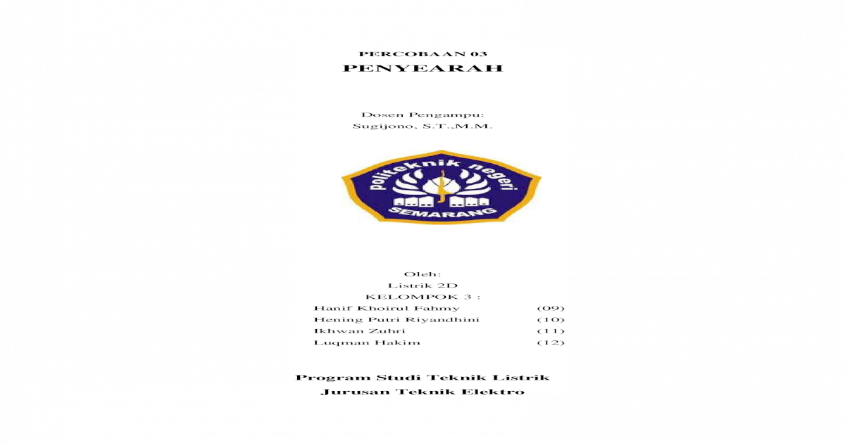 3 Penyearah Kel 3 Docx Document