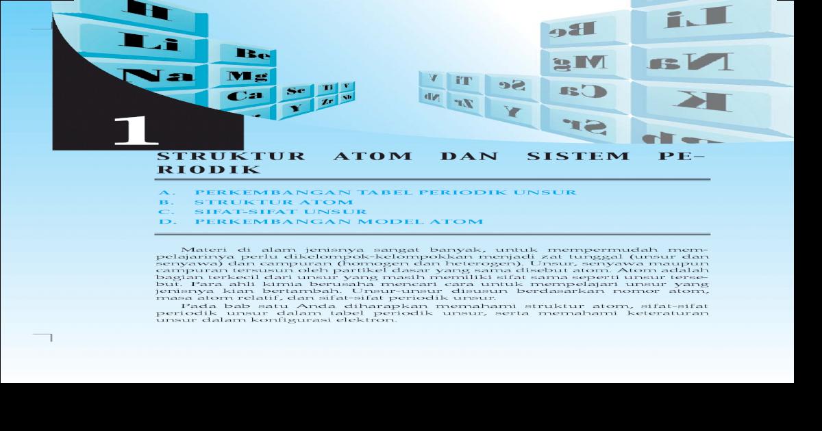 Struktur atom dan sistem pe x pspdfbab 1pdfa perkembangan tabel perkembangan tabel periodik unsur b struktur atom c sifat sifat unsur d perkembangan model atom struktur atom dan sistem pe riodik 1 materi di alam urtaz Choice Image