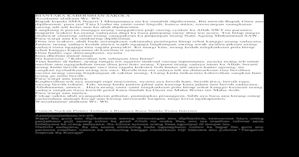 Contoh Pidato Biantara Sunda 4 Docx Document