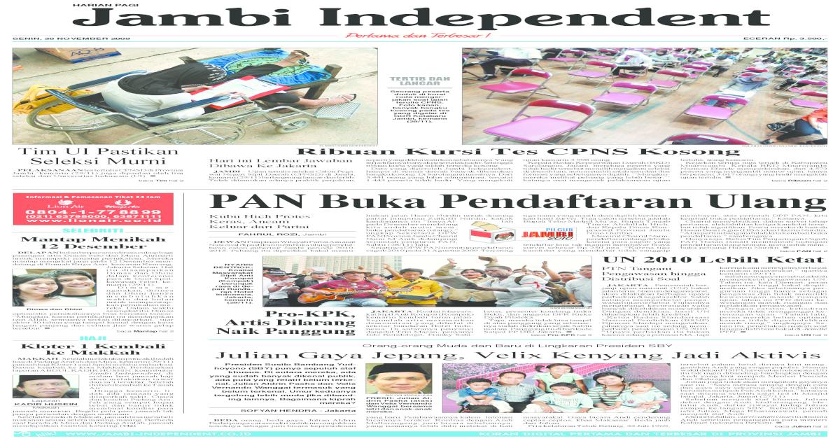 Jambi Independent 30 November 2009 - [PDF Document]