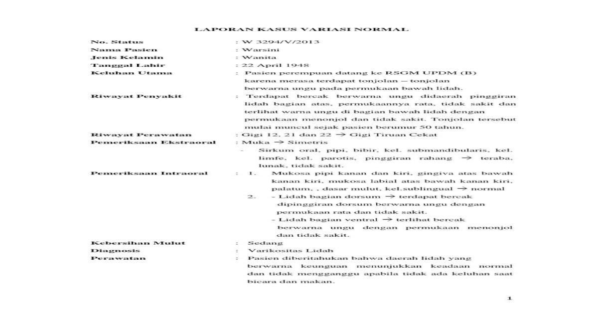 Laporan Kasus Variasi Normal - [PDF Document]