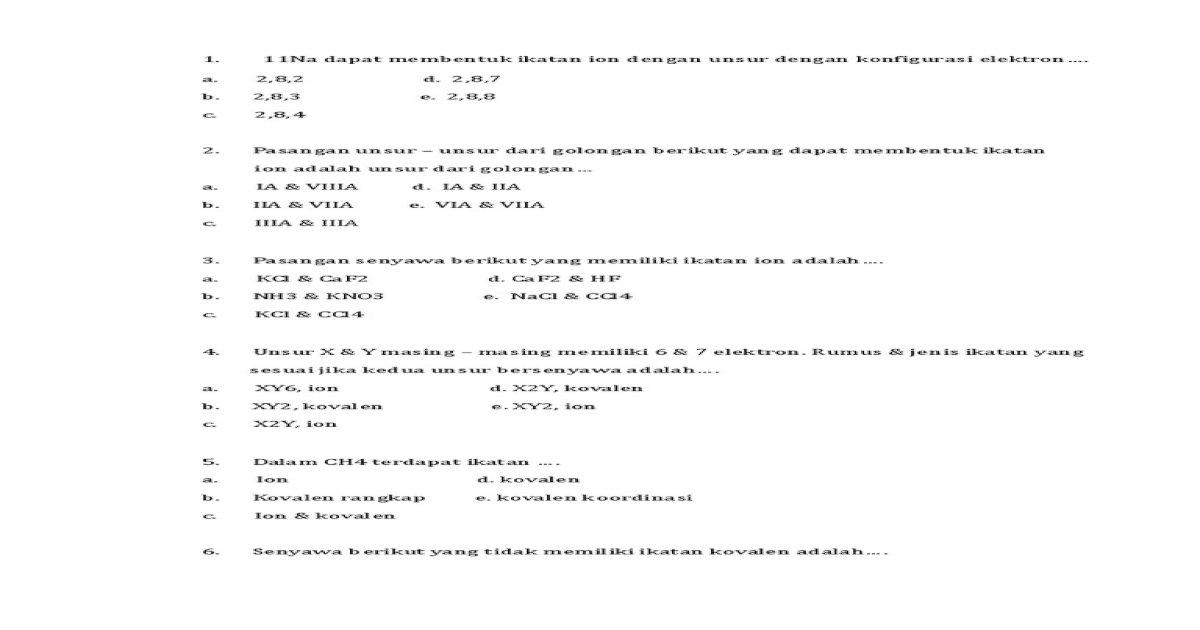 Ika Kimia Pdf Document