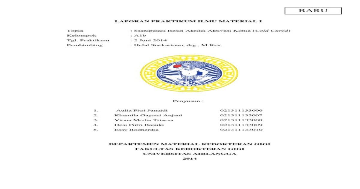 Cara Kerja Cold Cured - PDF Document