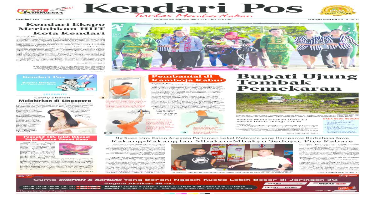 Kendari Pos Edisi 06 Mei 2013 Pdf Document