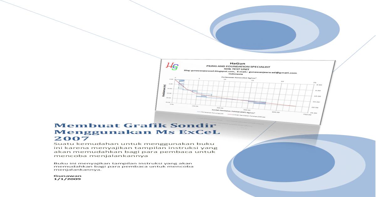 Membuat Grafik Sondir Menggunakan Ms Excel 2007 Input Data From Data Sondir Sheet Dukung Tanah Untuk Pondasi Bangunan Pengujian Daya Dunkung Tanah Dilakukan Dengan Alat Pdf Document
