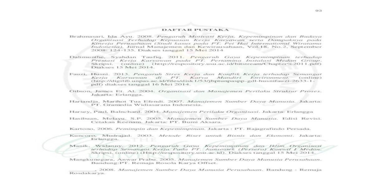 Daftar Pustaka Daftar A A Jurnal Manajemen Dan Kewirausahaan